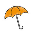 umbrella rainy season protection accessory vector image