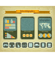 phone infographics vector image vector image