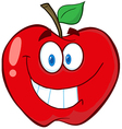 Apple Cartoon Mascot Character vector image vector image