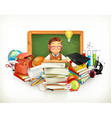 Back to school Education 3d vector image vector image