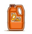 big orange plastic bottle with palm oil vector image