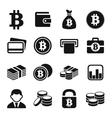 Bitcoin icons set vector image