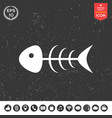 fish skeleton icon vector image