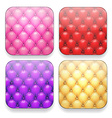 Blank upholstered color app icons vector image