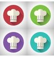 Chief Cook Symbol Toque Cuisine Food Icon on vector image