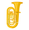 colored flat style tuba music instrument vector image