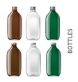 Template of glass bottles vector image