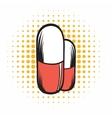 Medical capsule comics icon vector image