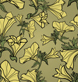bell flowers pattern vector image