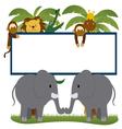 cartoon savage animals vector image