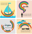 four gay icons infographics vector image