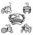 set of tractors vector image