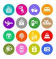 Set valentines day buttons romantic travel vector image