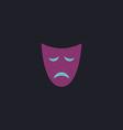 tragedy mask computer symbol vector image