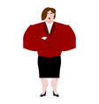 woman boss female bank businesswoman in suit vector image