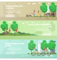 set of People in park concept banners vector image