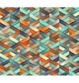 Seamless Triangle Grid Teal Orange Color vector image