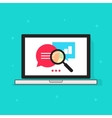 Laptop analytics data icon computer vector image