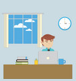 an employee in the office workplace vector image
