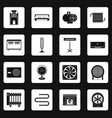 heating cooling air icons set squares vector image