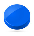 blue disk isolated on white background vector image vector image