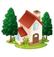 single house on the island vector image vector image