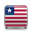 Metal icon of Liberia vector image