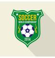 Soccer world championship emblem vector image