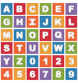 bright alphabet icons vector image