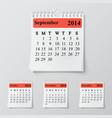 Wall calendar vector image