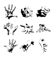hands silhouette vector image vector image