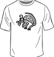 t-shirt with mexican symbol vector image vector image