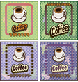 set of coffee banners for restaurants cafes vector image vector image