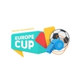 Europe soccer cup badge vector image vector image