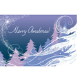Christmas card the forest vector image vector image