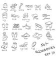 accessories doodles vector image
