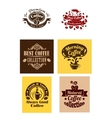 Best coffee logos and banners vector image