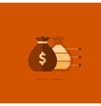 Big sack with money financial investment safety vector image