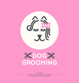 Dog grooming vector image