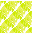 floral pattern with palm leaves vector image