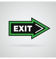 Green and black colored arrow with exit message vector image