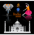 India travel set vector image