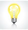 object bulb on vector image