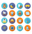time to sleep icons in a flat style vector image
