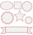 SET OR RETRO BANNERS vector image vector image
