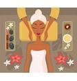 beautiful african woman relaxing spa salon face vector image