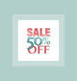sale and discount poster vector image vector image