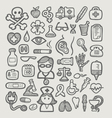 Medical icons sketch vector image vector image