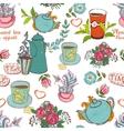 tea seamless vector image vector image