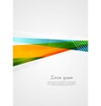 Abstract colorful geometry shapes design vector image